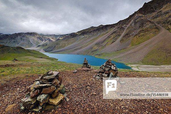Chandra Taal or Chandra Tal lake  Spiti  Himachal Pradesh  India.