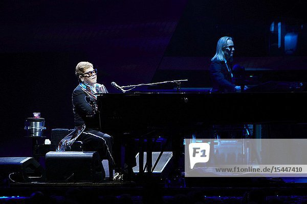 Sir Elton John during Farewell Yellow Brick Road  the final tour at WiZink Center on June 26  2019 in Madrid  Spain