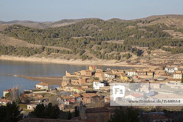 Landscape near Nuevalos  Aragon  Spain  Europe.