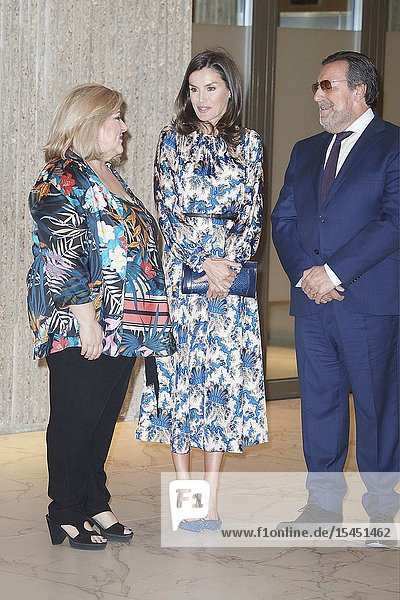 Queen Letizia of Spain attends Delivery of the 5th edition of the Discapnet Awards at Auditorio EL Beatriz on June 21  2019 in Madrid  Spain