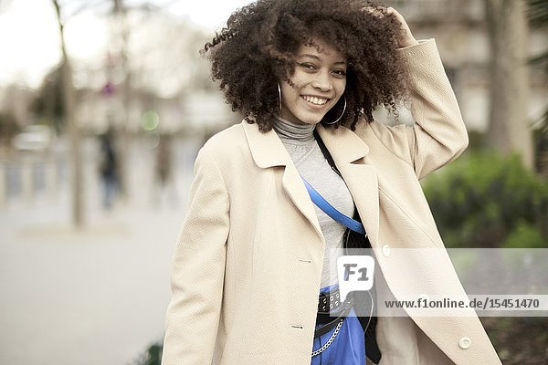 Young woman  in Paris  France