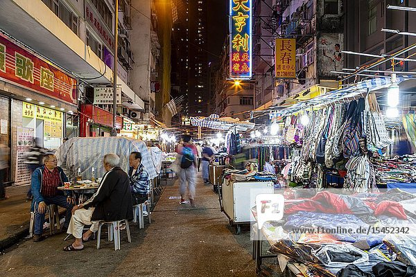 Temple Street Night Market  Hong Kong  China.