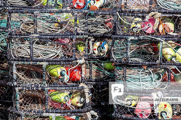 The boat harbor in Newport  Oregon  is home to commercial and recreational fishing vessels and many people earn their living by using the commercial fishing tackle to fish off the Oregon coast.