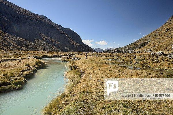 The beautiful Waraco River on the Cordillera Real Traverse  Bolivia.