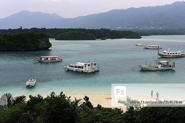 Kabira Bay in Ishigaki island  Okinawa Prefecture  Japan  Asia.