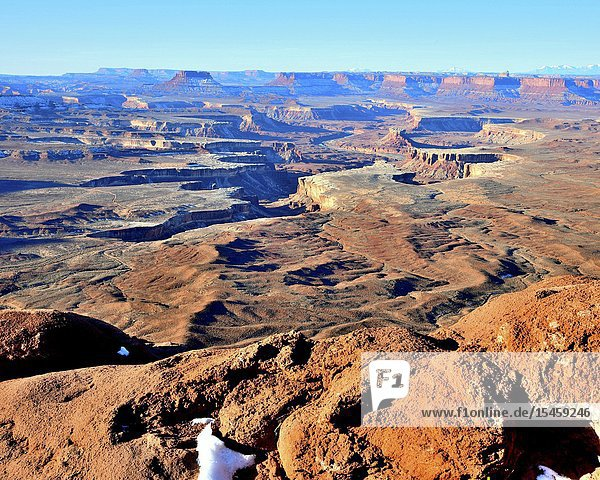 Green River Over Look  Island In The Sky  Canyonlands National Park  Moab  Utah.