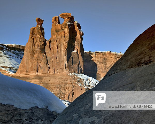 Gossips  Winter  Arches National Park  UT.