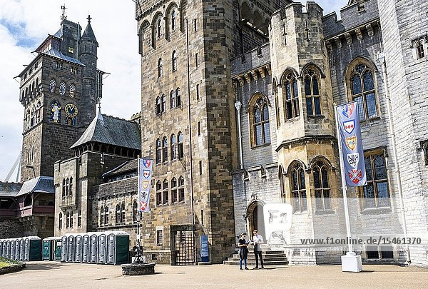 Cardiff Castle  Cardiff  Wales.