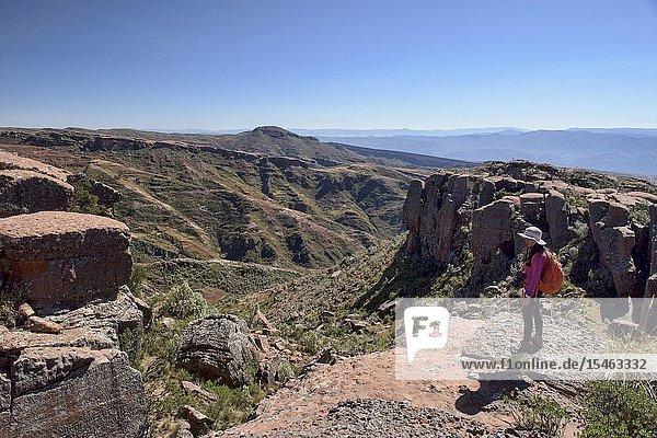 Trekking in the canyons of Ciudad de Itas in Torotoro National Park  Torotoro  Bolivia.