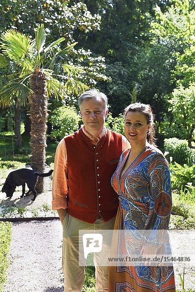 Sophie Vauzelle and Marc Lelandais  owner of the Royal Domain of Chateau-Gaillard at Amboise  Touraine  department of Indre-et-Loire  Centre-Val de Loire region  France  Europe.