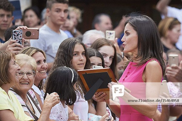 Queen Letizia of Spain attends Meeting of the Council of the Royal Board on Disability and delivery of the 'Queen Letizia 2018 Awards' at Corral de Comedias Theater on July 9  2019 in Almagro  Spain