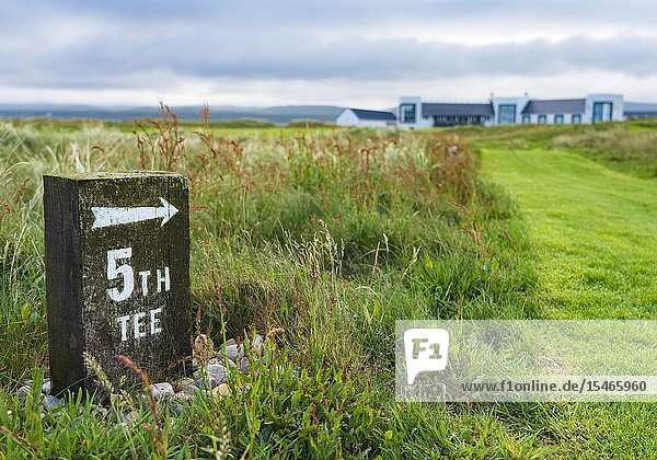 View of Machrie Golf Links golf course on Islay. In Inner Hebrides  Scotland  UK.