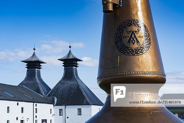 View of Ardbeg Distillery on island of Islay in Inner Hebrides of Scotland  UK.