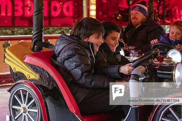 Christmas Market  East Princes Street Gardens  Edinburgh  Lowlands  Scotland  United Kingdom.