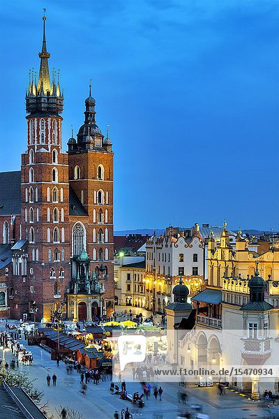 Saint Mary Basilica  Krakow  Poland.