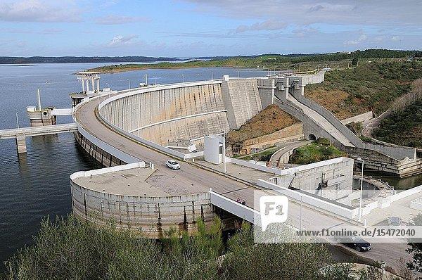 Alqueva Dam on the Guadiana River. Alentejo. Portugal