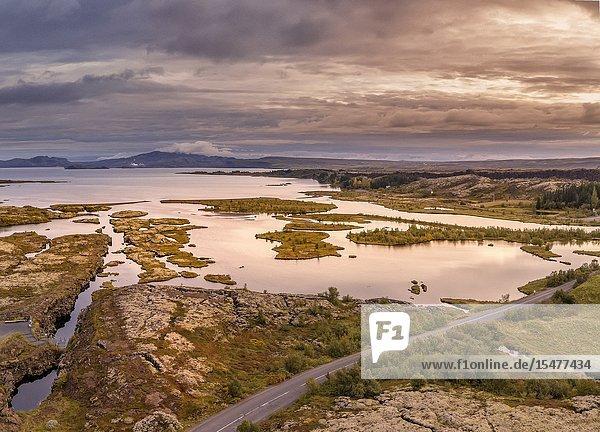Lake Thingvellir  Thingvellir National Park  Iceland. Unesco World Heritage Site.