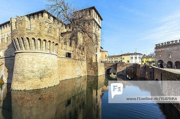 Sanvitale Castle  Fontanellato village  Parma district  Emilia Romagna  Italy.