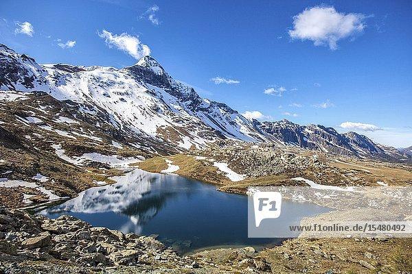 Top view of Lake Campagneda Valmalenco  Valtellina Lombardy Italy Europe Italy.
