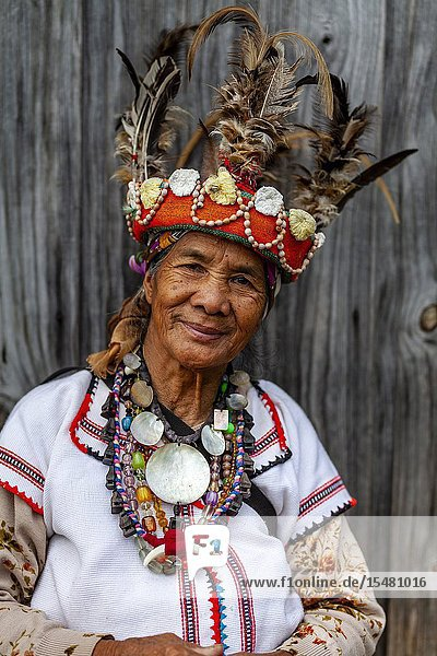 A Portrait Of An Ifugao Tribal Woman  Banaue  Luzon  The Philippines.