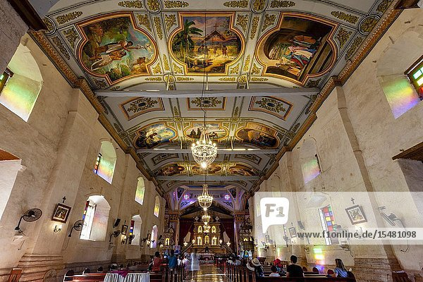 The Interior Of Baclayon Church  Bohol  The Philippines.
