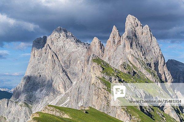 Seceda peaks in summer. Ortisei  Bolzano province  Trentino Alto Adige  Italy.