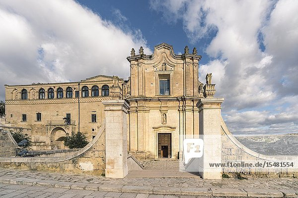 Sant'Agostino monastery in the old town. Matera  Basilicata region  Italy.