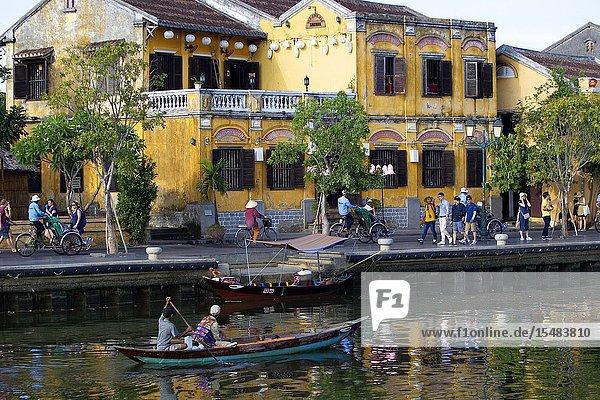 Thu Bon River. Hoi An Ancient Town  Quang Nam Province  Vietnam.