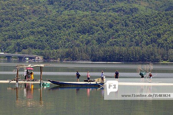 Lang Co lagoon  Lang Co  Thua Thien-Hue Province  Vietnam  Asia.