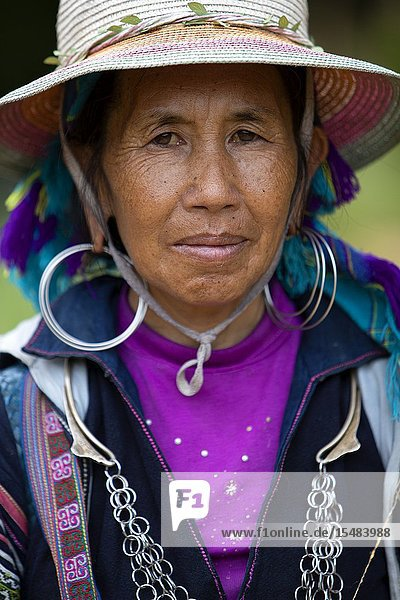 Woman of the Black Hmong ethnic minority  Sa Pa  Lao Cai Province  Vietnam  Asia.