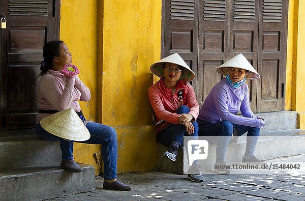 People in the street. Hoi An Ancient Town  Quang Nam Province  Vietnam..