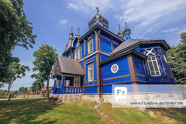 Orthodox church of Protection of the Mother of God in Puchly village  Hajnowka County in Podlaskie Voivodeship of northeastern Poland.