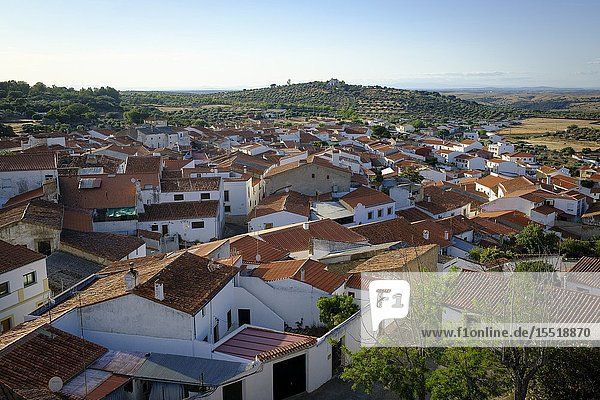General view of Valencia de Alcántara from the castle. Cáceres province. Extremadura. Spain.