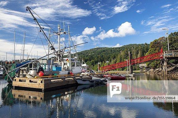 Marina in Ganges Harbour - Salt Spring Island  British Columbia  Canada.