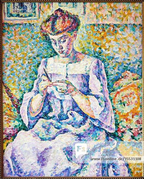 'Femme faisant du crochet'  1908  Lucie Cousturier  Musée d'Orsay  Paris  France  Europe