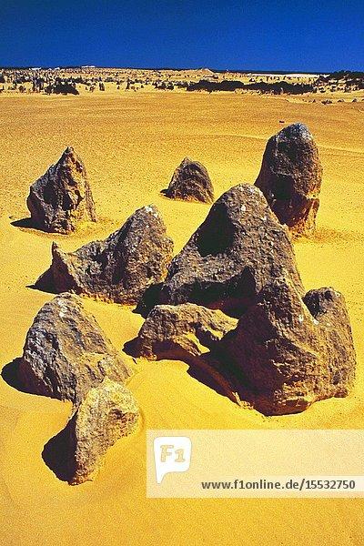 West-Australia: The Pinnacles in the desert.