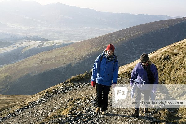 Walking up Blencathra in The Lake District
