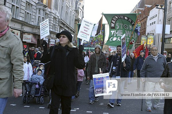 Pro Palestinian march and rally protesting against Israeli military action in Gaza  London 3 Jan 2009