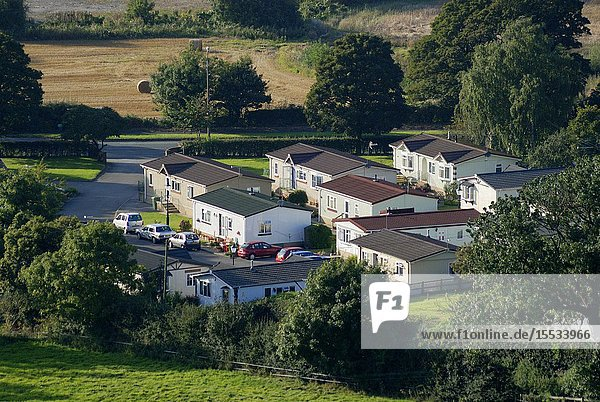 A community of prefabricated static homes situated in Cheshire between the villages of Helsby and Frodsham near Chester