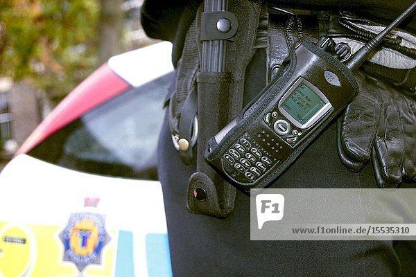 Police officer's duty belt