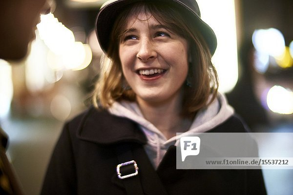 Young woman. Nightlife  in Berlin  Germany.