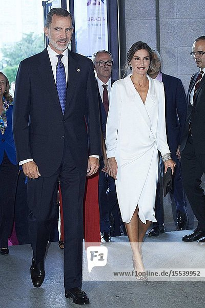King Felipe VI of Spain  Queen Letizia of Spain attends Royal Theatre 2019/2020 Season Inauguration at Royal Theater on September 18  2019 in Madrid  Spain