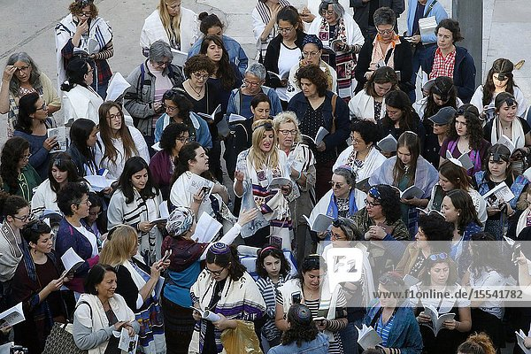 Women of the kotel  a jewish liberal women's movement fighting discrimination at the Western Wall  Jerusalem  Israel.