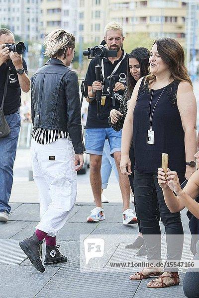 Kristen Stewart attended 'Seberg' Photocall during 67th San Sebastian Film Festival at Kursaal Palace on September 20  2019 in San Sebastian  Spain