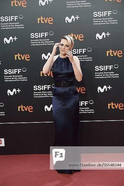 Kristen Stewart attended Opening Ceremony during 67th San Sebastian Film Festival at Kursaal Palace on September 21  2019 in San Sebastian  Spain