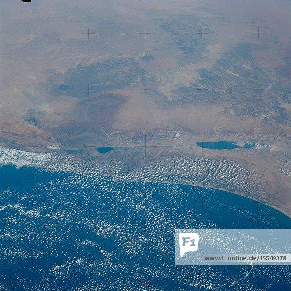 Skylab 3 Earth view of Israel  Jordan  Lebanon  Syria  Iraq and the Dead Sea.