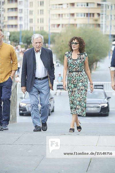 Costa-Gavras  Valeria Golino attended 'Adults in the room' Photocall during 67th San Sebastian Film Festival at Kursaal Palace on September 21  2019 in San Sebastian  Spain