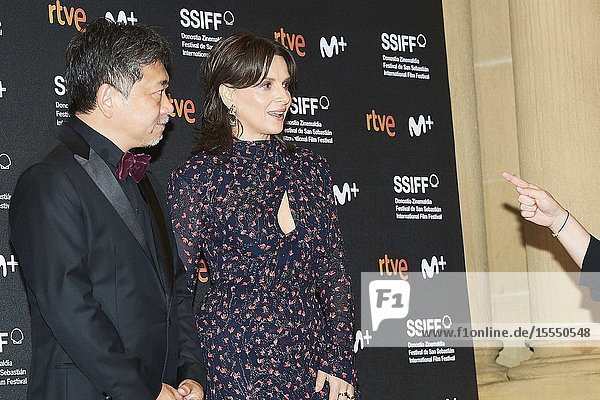 Juliette Binoche  Hirokazu Koreeda attended 'La verite' Premiere during 67th San Sebastian Film Festival at Victoria Eugenia on September 22  2019 in San Sebastian  Spain