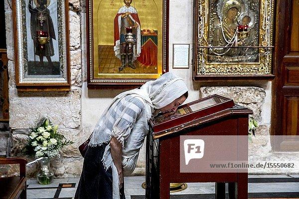 Alexander Nevsky Russian orthodox church  Jerusalem  Israel.