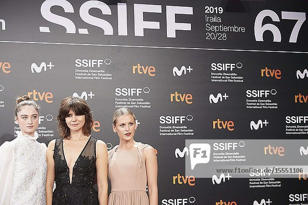 Denise Gough  Raffey Cassidy  Malgorzata Szumowska attended 'The other lamb' Premiere during 67th San Sebastian Film Festival at Kursaal Palace on September 23  2019 in San Sebastian  Spain